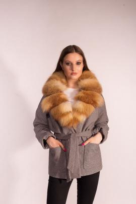 Куртка Мехофф Ксения70.02-36р серый-гусиная лапка