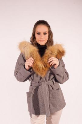 Куртка Мехофф Ксения70.02-56р серый-гусиная лапка
