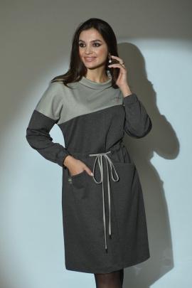 Платье Angelina 609 серый_графит