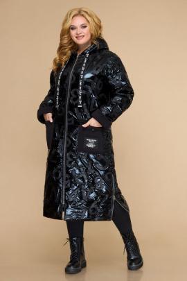 Пальто Svetlana-Style 1826 черный+буквы