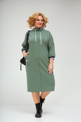 Платье Ивелта плюс 1758/1 зеленый