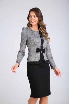 Платье SandyNa 130111 серый-черный