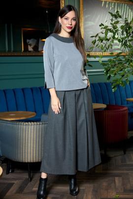 Блуза, Кюлоты Anastasia 703 графитовый