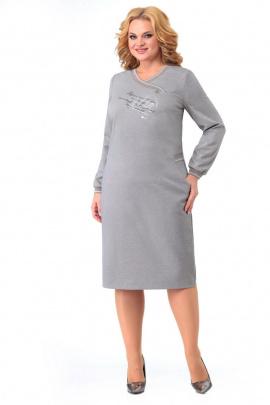 Платье Мишель стиль 1002 серо-бежевый