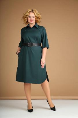 Платье Juliet Style Д172 темно-зеленый