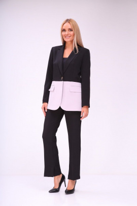Женский костюм Vilena 743 черный+светлая_лаванда.
