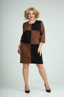 Платье Mamma Moda М-689/1 коричневый-черный