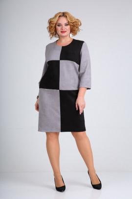 Платье Mamma Moda М-689/1 серый-черный