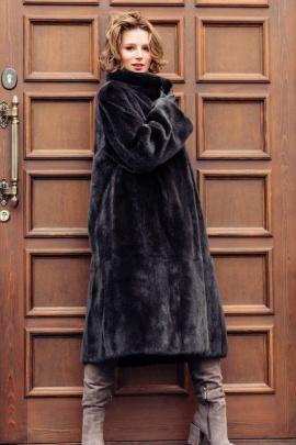 Пальто Мехофф Ромашка110.123-620 черный