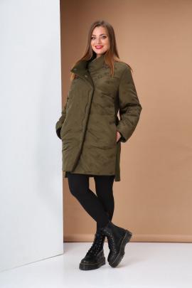 Куртка Andrea Style 0414 зеленый