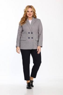 Женский костюм Vilena 742 серый+тёмно-синий