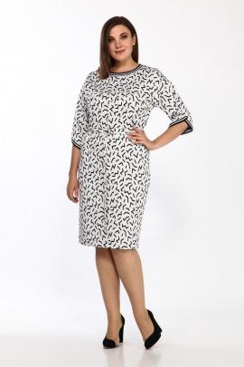 Платье Lady Style Classic 2434/1 молоко-черный