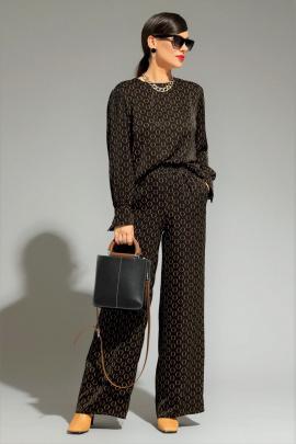 Комплект Магия моды 2009 черный+ желтый_принт