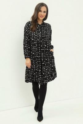Платье Магия моды 1973 черно-белый