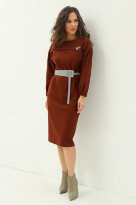 Платье Магия моды 1980 коричневый