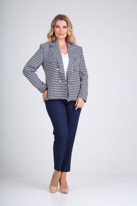 Женский костюм SandyNa 130514 бело-синий