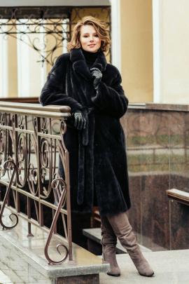 Пальто Мехофф Мэри110.022-320 мокрый_асфальт