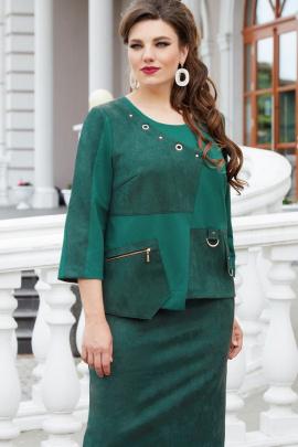 Платье Vittoria Queen 14533/1 темно-зеленый