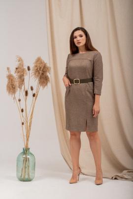 Платье Angelina 699 коричневый