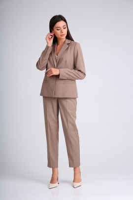 Женский костюм SandyNa 130508 серо-коричневый
