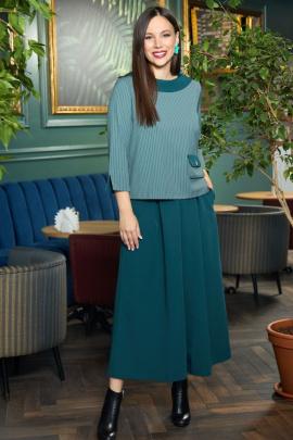 Женский костюм Anastasia 700 хвоя+изумруд