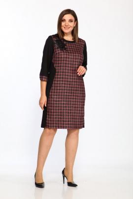Платье Lady Style Classic 1488/1 черный_малина