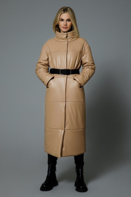 Пальто DiLiaFashion 0542 бежевый