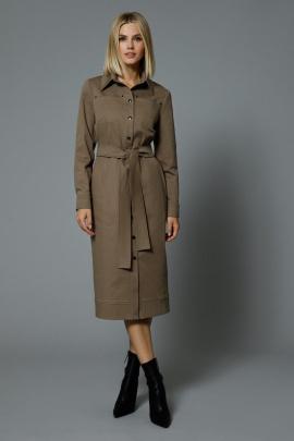 Платье DiLiaFashion 0547 коричневый