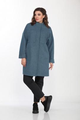 Пальто Lady Style Classic 2195/2 небесный_меланж