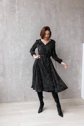 Платье KRASA 275-21 черный/сердечки