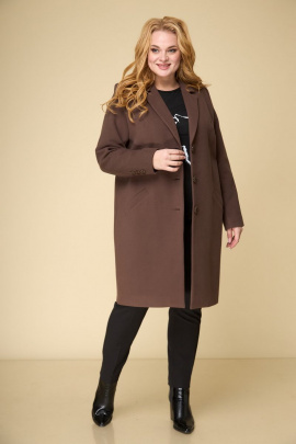 Пальто БелЭльСтиль 789 коричневый