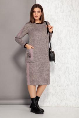 Платье Karina deLux М-9940 розовый_меланж