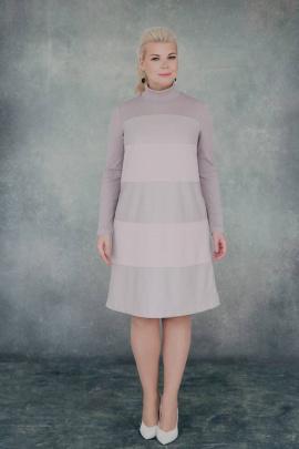 Платье ASV 2454 серо-розовый