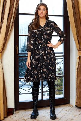 Платье AYZE 1466 черно-бежевый