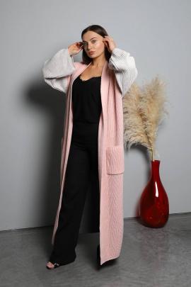 Кардиган Romgil 588ПТЗ темно-серый,розовый,светло-бежевый