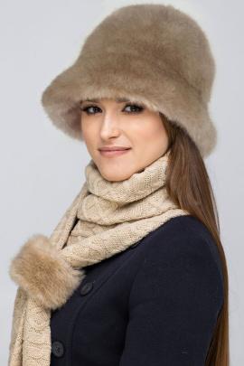 Шапка Зима Фэшн 066-1-09 бежевый_под_норку