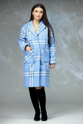 Пальто Angelina & Сompany 603 голубая_клетка