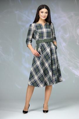 Платье Angelina & Сompany 614 зеленая_клетка