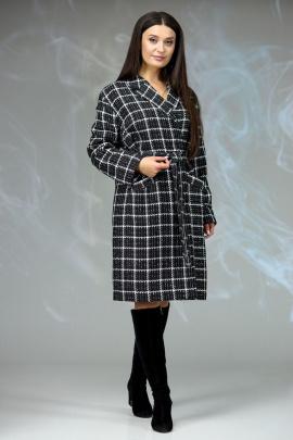 Пальто Angelina & Сompany 607 шанель_черно-белый