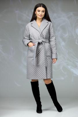 Пальто Angelina & Сompany 608 серый