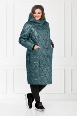 Пальто БагираАнТа 656 бирюзовый