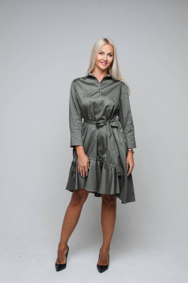 Платье Avila 0865 хаки