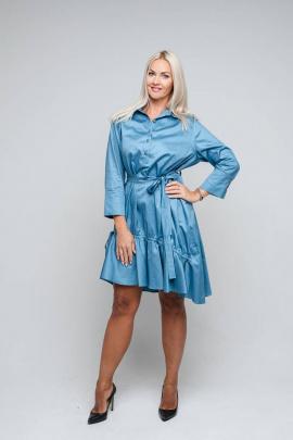 Платье Avila 0865 темно-голубой