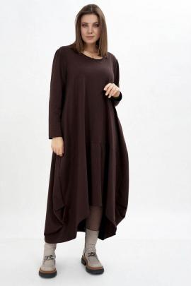 Платье GRATTO 8118 шоколад