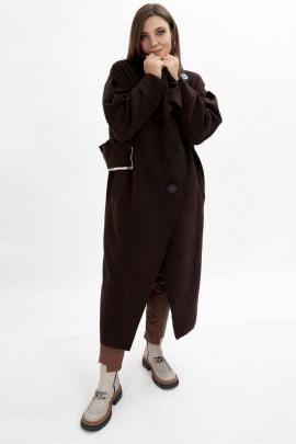 Пальто GRATTO 5101 шоколад