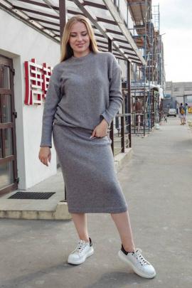 Юбка Arisha 9022 меланжево-серый
