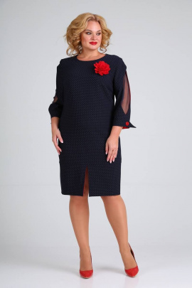 Платье Moda Versal П2340 т.синий+красный