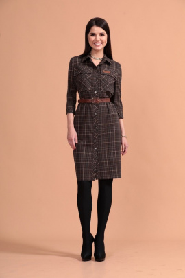 Платье Твой имидж 1444 коричневое