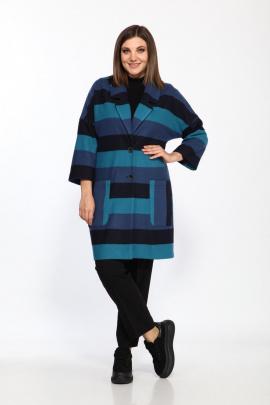 Жакет Lady Style Classic 2164/3 синий-черный_полосы