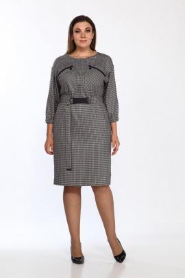Платье Lady Style Classic 2326 синий-бежевый_клетк
